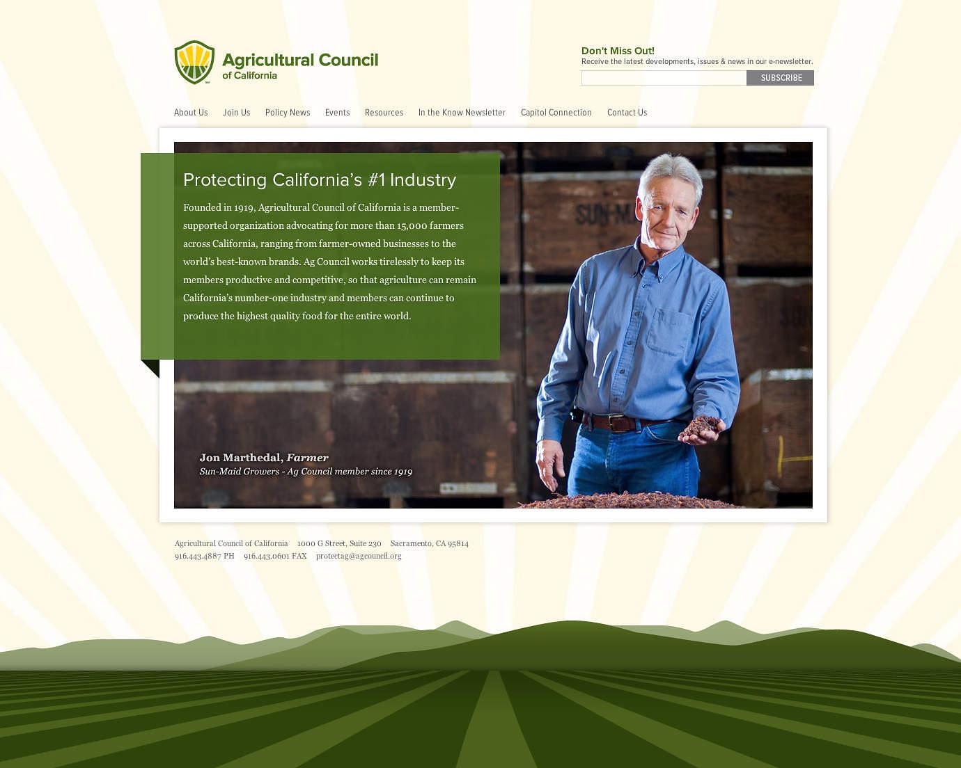 Agricultural-Council-California-web-design