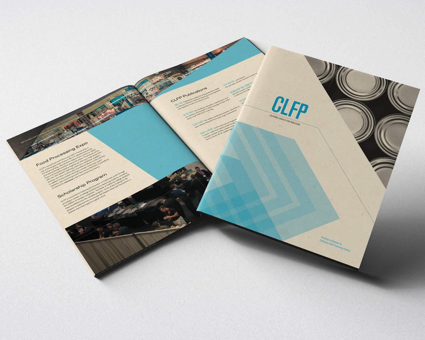 Brochure design for sacramento food processing advocacy group for Design katalog
