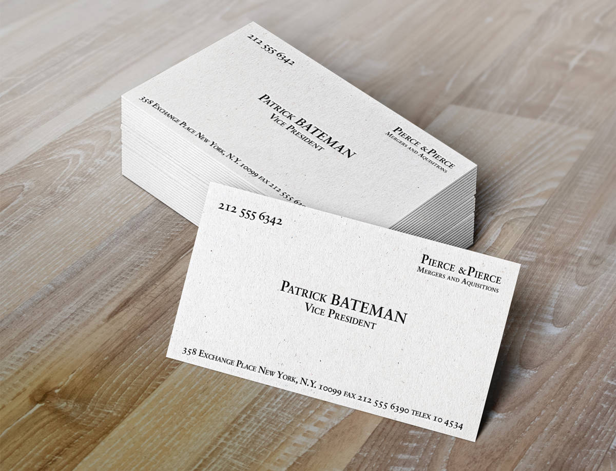 Patrick Batemen Business Cards - CLINE&CO DESIGN